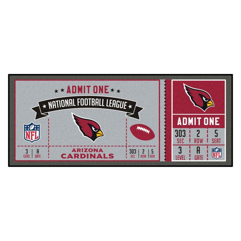 NFL - Arizona Cardinals 30 in. x 72 in. Indoor Ticket Runner Rug