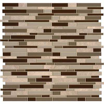 Sienna Interlocking 12 in. x 12 in. x 8 mm Stone Glass Mesh-Mounted Mosaic Tile (10 sq. ft. / case)