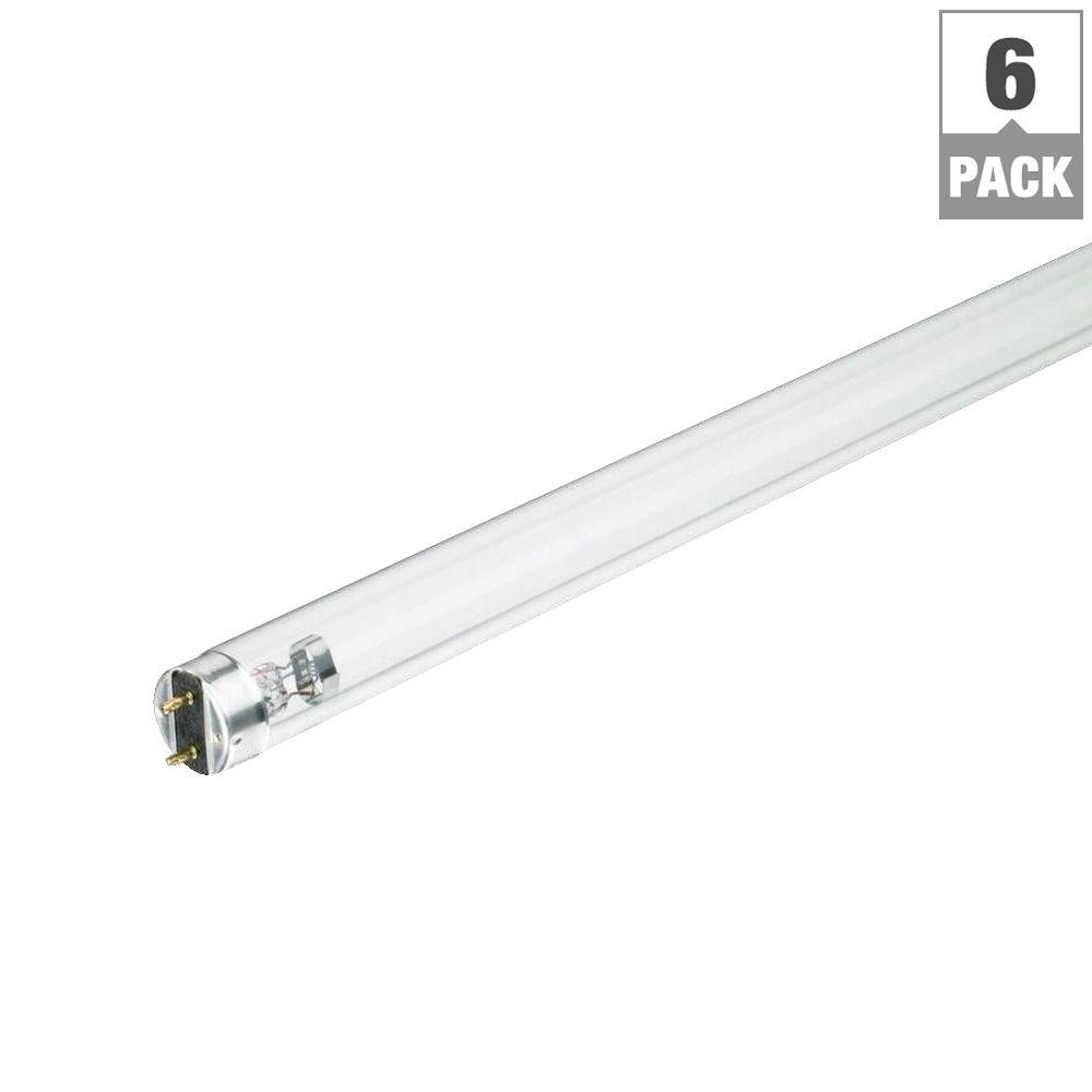 4 ft. T8 36-Watt TUV Linear Fluorescent Germicidal Light Bulb (6-Pack)
