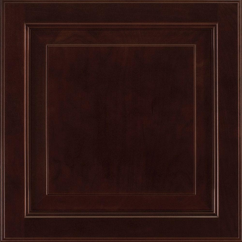 American Woodmark 14-9/16x14-1/2 in. Cabinet Door Sample in Alexandria Cherry Java