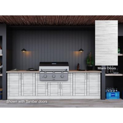 Weathered Wood Outdoor Kitchen Cabinets Outdoor Kitchen Storage The Home Depot