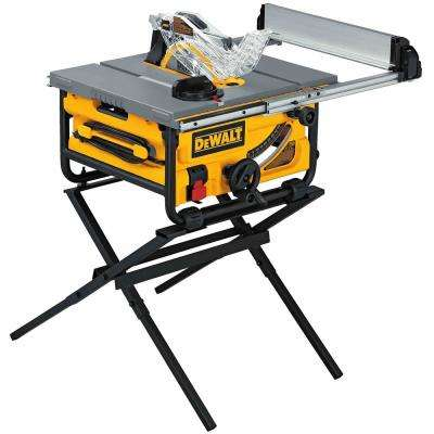 15-Amp Corded 10 in. Compact Job Site Table Saw with Site-Pro Modular Guarding System with Stand