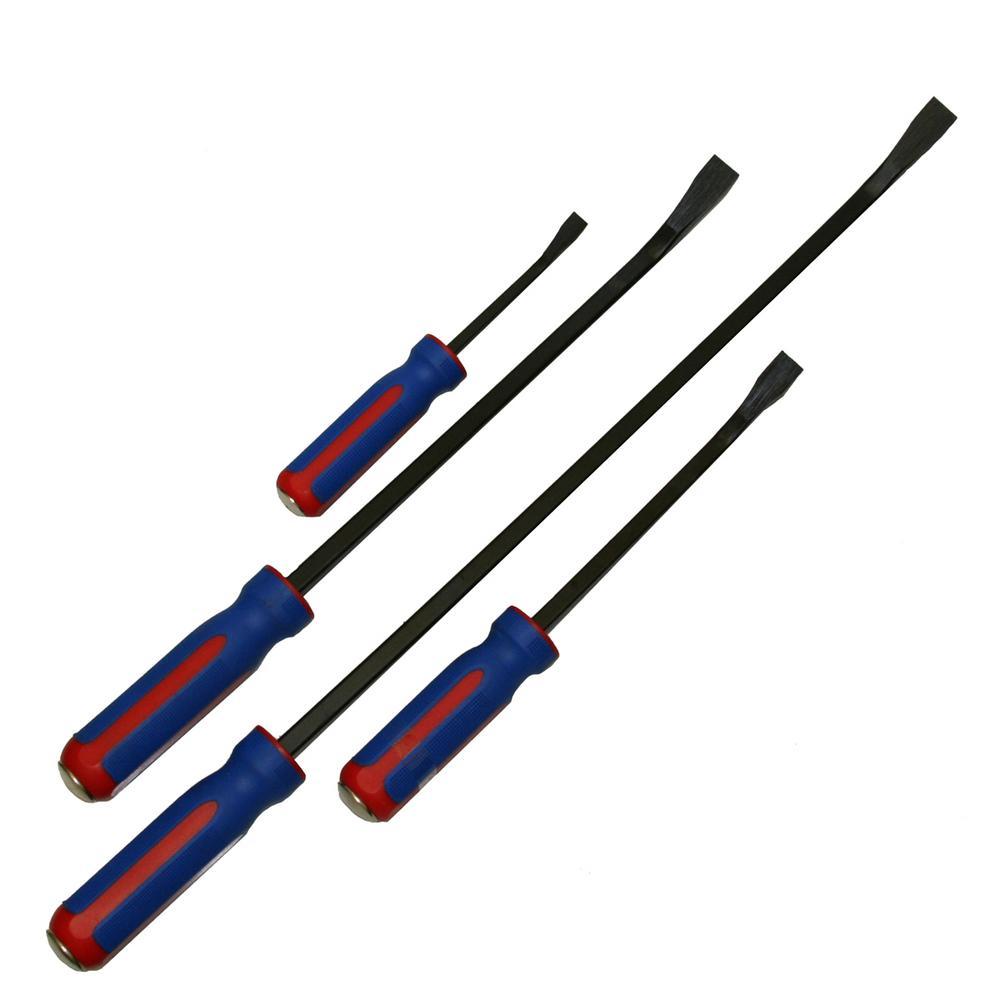 4-Piece Hammerhead Pry Bar Set