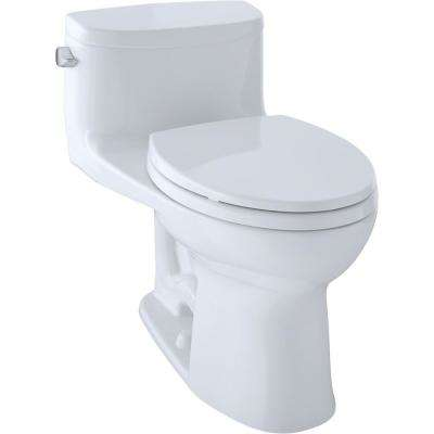 Supreme II 1-Piece 1.28 GPF Single Flush Elongated Toilet with CeFiONtect in Cotton White, Seat Included
