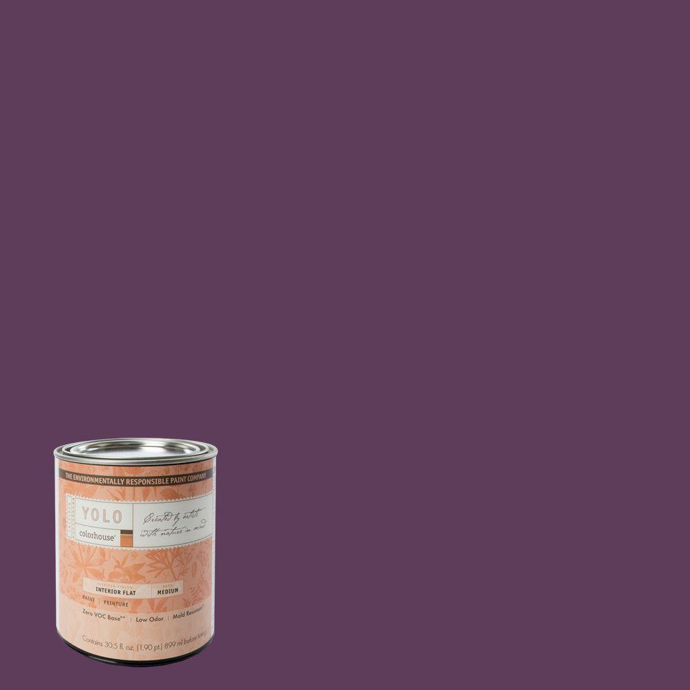 YOLO Colorhouse 1-Qt. Create .06 Flat Interior Paint-DISCONTINUED