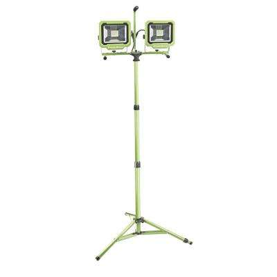 60-Watt (6000 Lumens) LED Dual-Head Work Light with Tripod