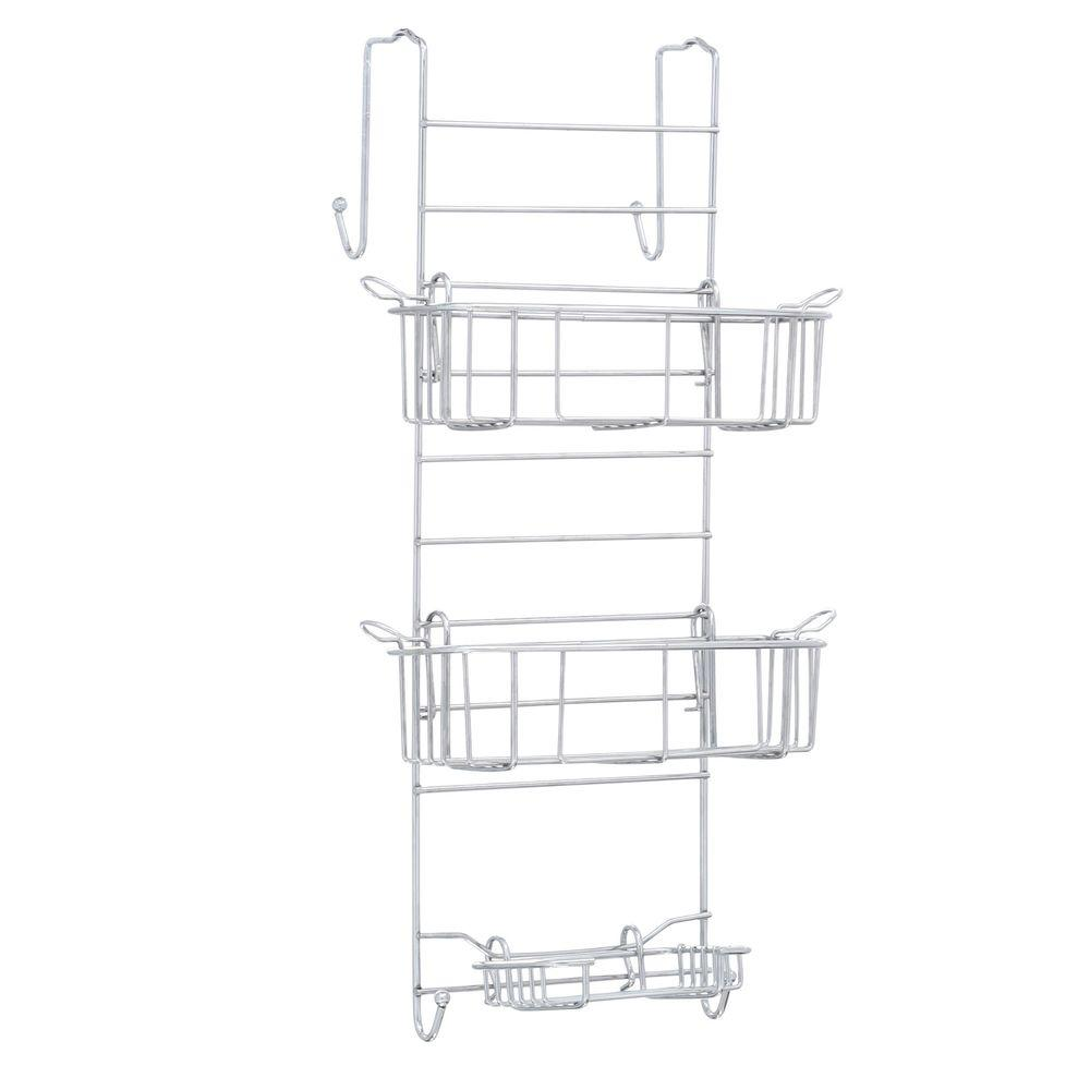 Zenith Zenna Home Over-the-Shower Door Caddy in Chrome (G...