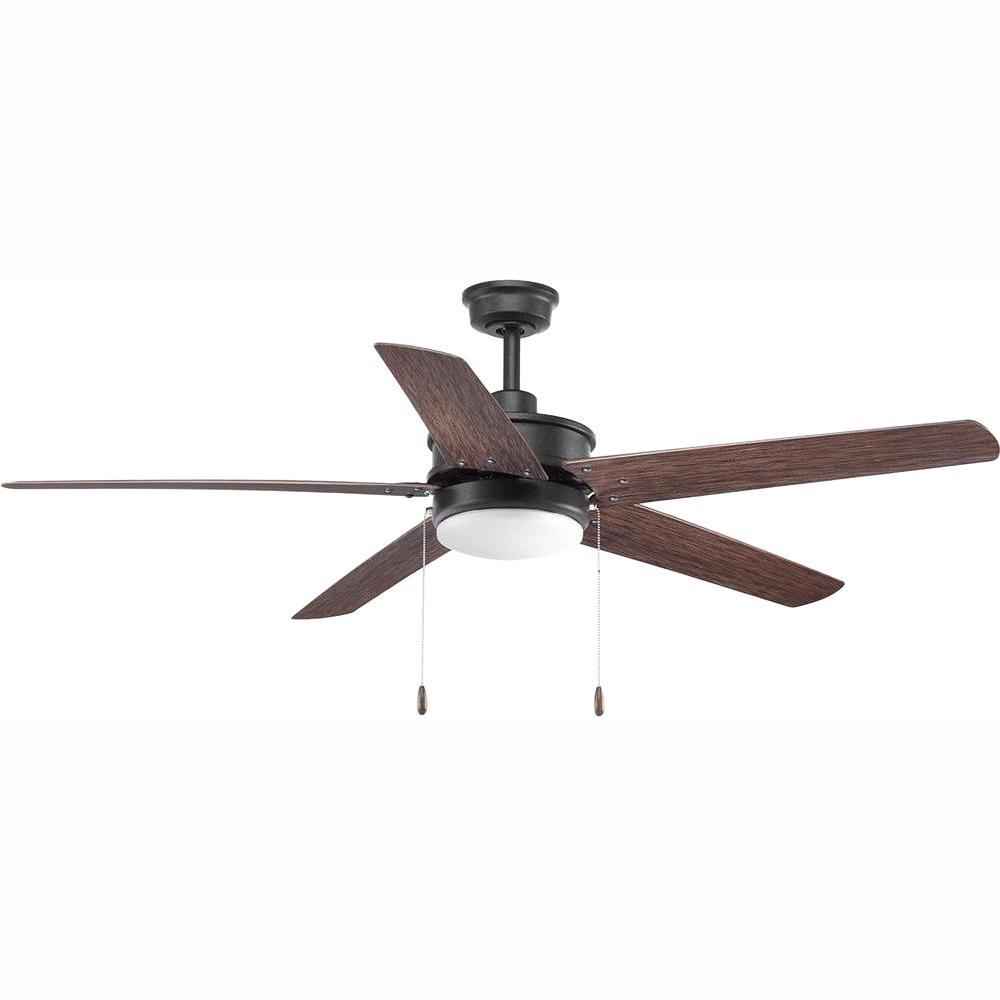 Progress Lighting Whirl Collection 60 in. LED Forged Black Ceiling Fan