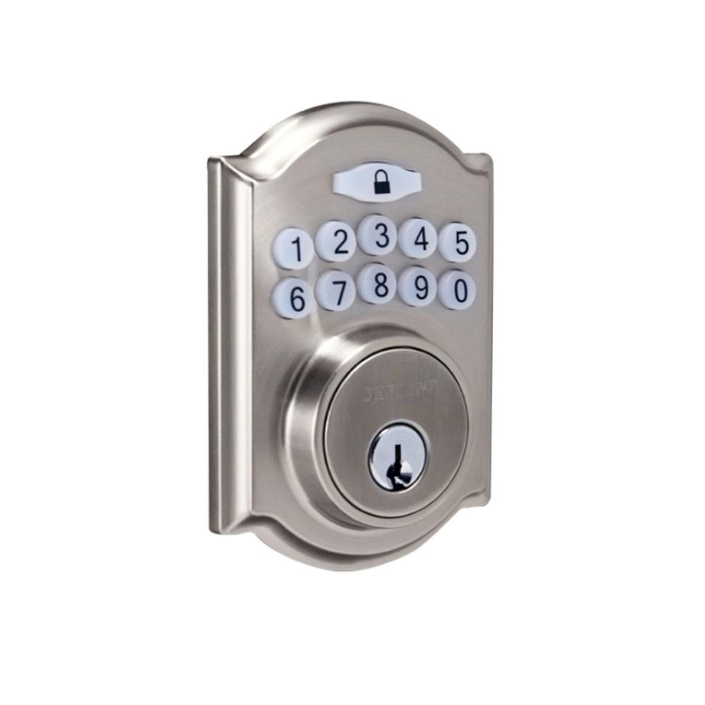 Defiant Spin To Lock Single Cylinder Satin Nickel Castle