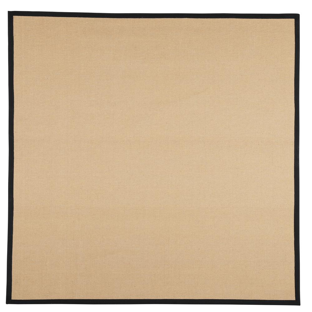 Washable Jute Rugs: Home Decorators Collection Washed Jute Black 8 Ft. X 8 Ft