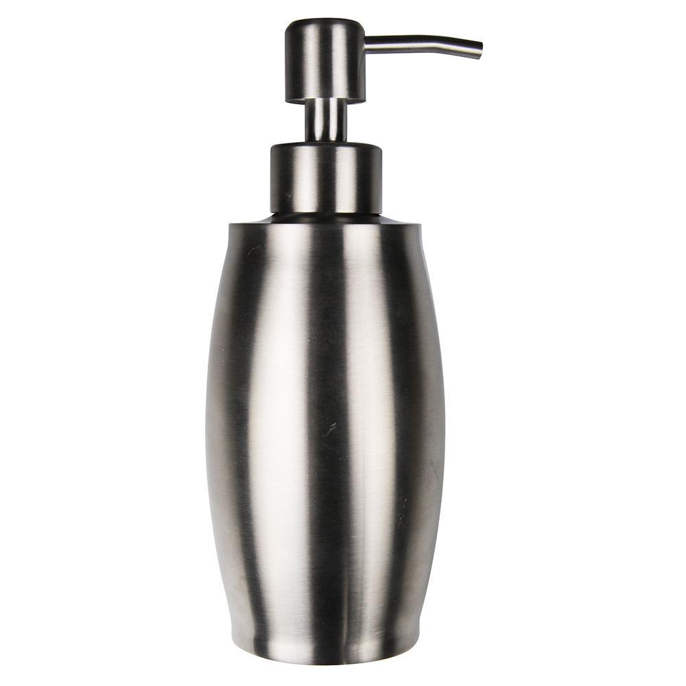 Brushed Nickel Metal 12 oz. Countertop Soap Dispenser