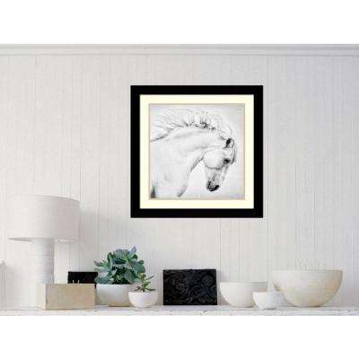"25 in. W x 25 in. H ""Attitude"" by Phyllis Burchett Framed Art Print"