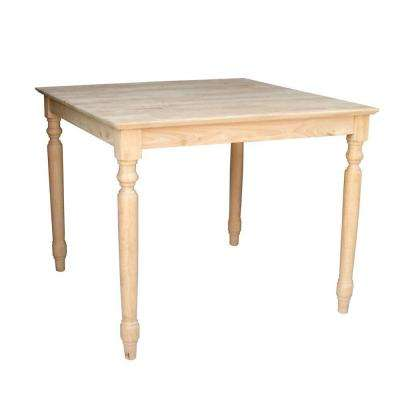 Unfinished Dining Table