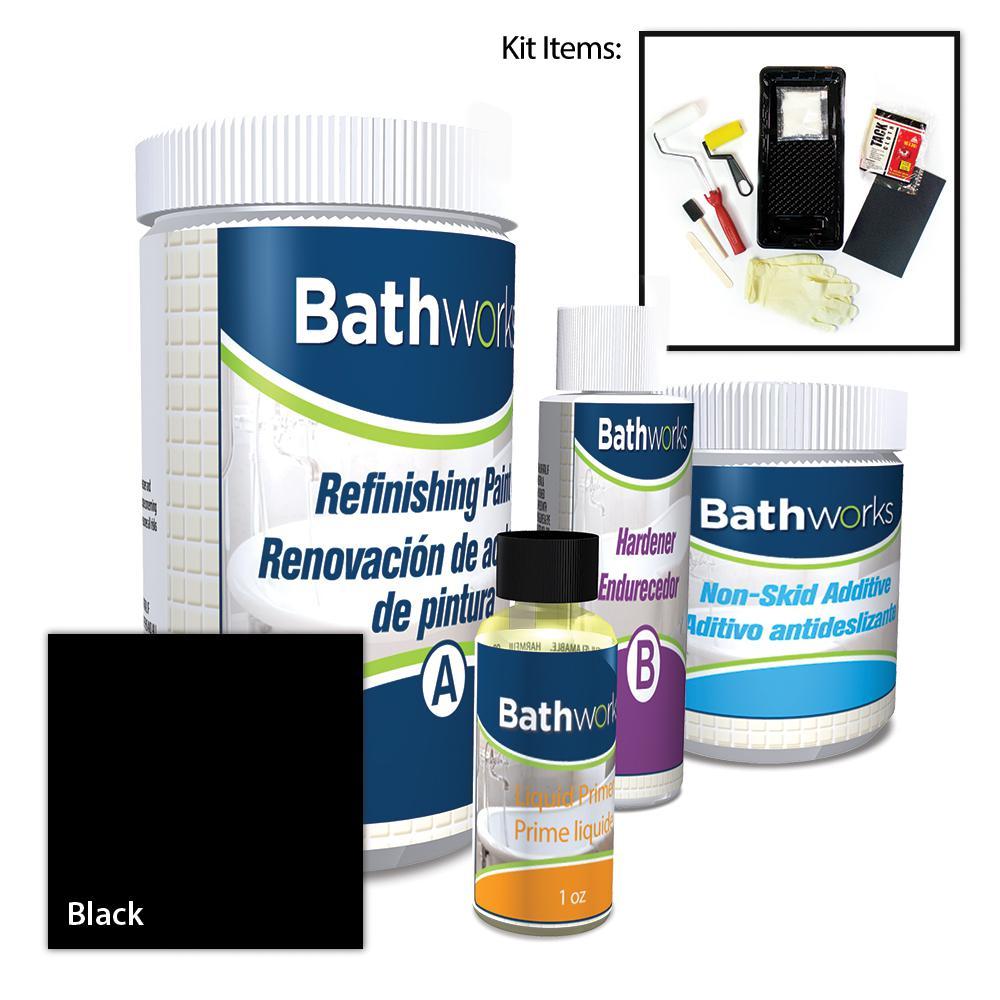 22 oz. DIY Bathtub Refinishing Kit with Slip Guard in Black