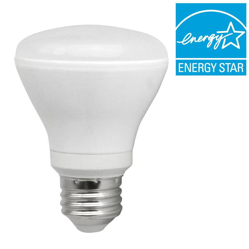TCP 50W Equivalent Cool White (4100K) R20 Dimmable LED Light Bulb