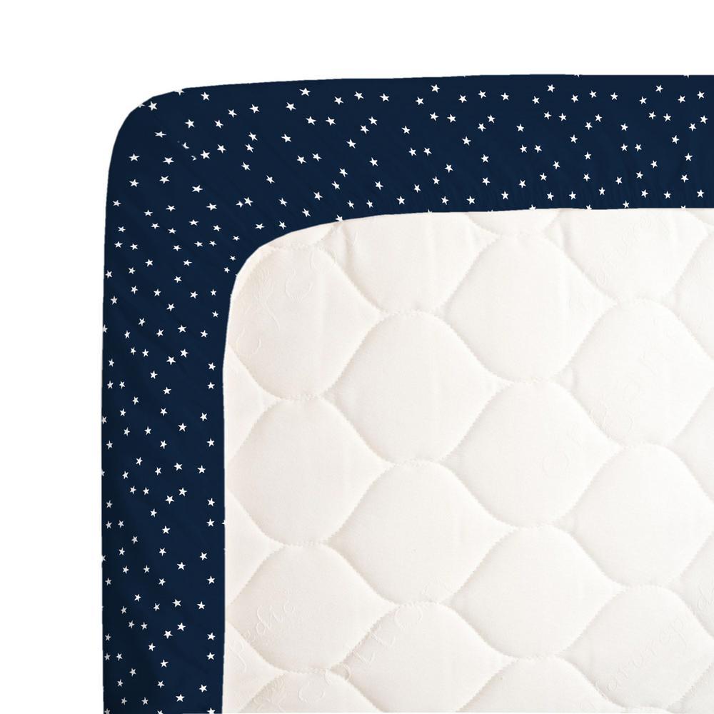 Crib Fitted Sheet 100/% Cotton 40x90cm 4x White Stars