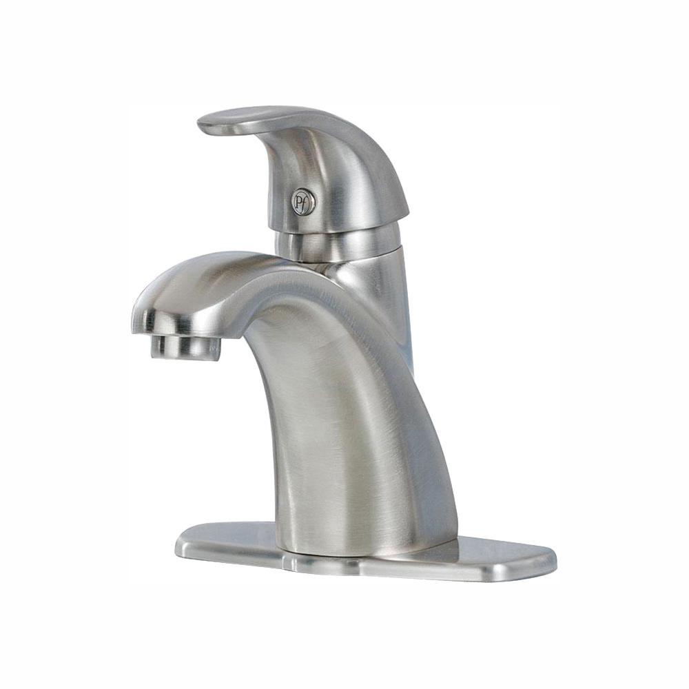 Parisa 4 in. Centerset Single-Handle Bathroom Faucet in Brushed Nickel