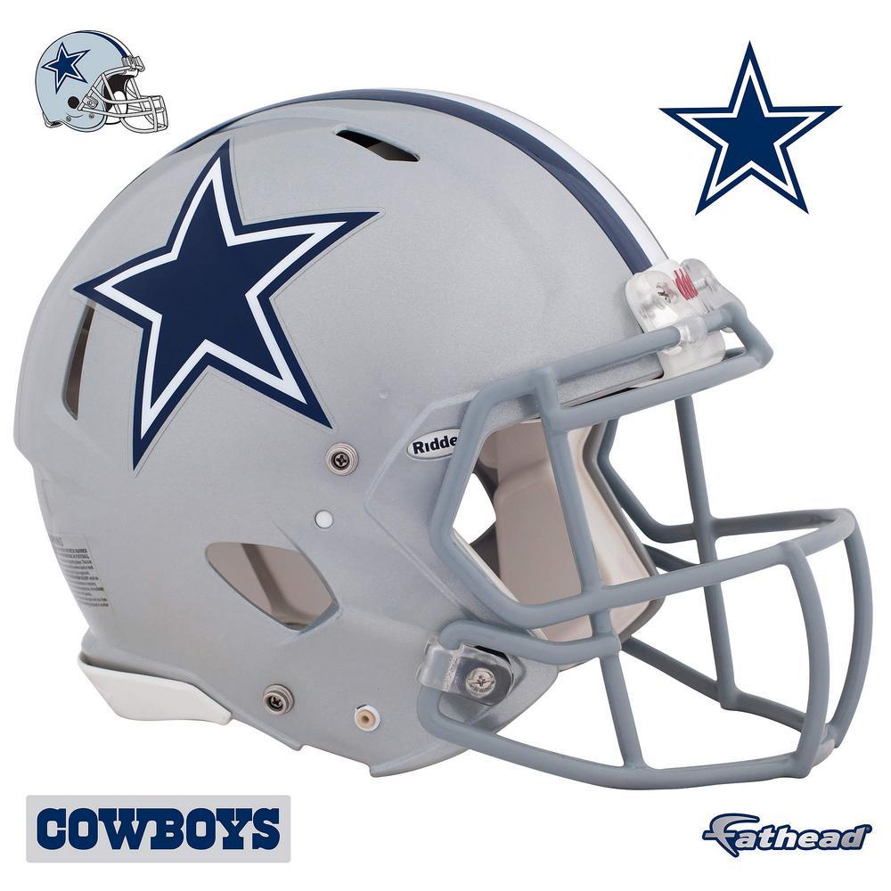 45 in. H x 56 in. W Dallas Cowboys Helmet Wall Mural