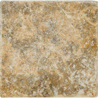 Porcini 16 in. x 16 in. Tumbled Travertine Paver Tile (20 Pieces / 35.6 Sq. ft. / Pallet)