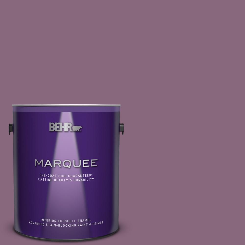 Behr Marquee 1 Gal S110 6 Plum Royale One Coat Hide Eggshell Enamel Interior Paint And Primer In One 245401 The Home Depot