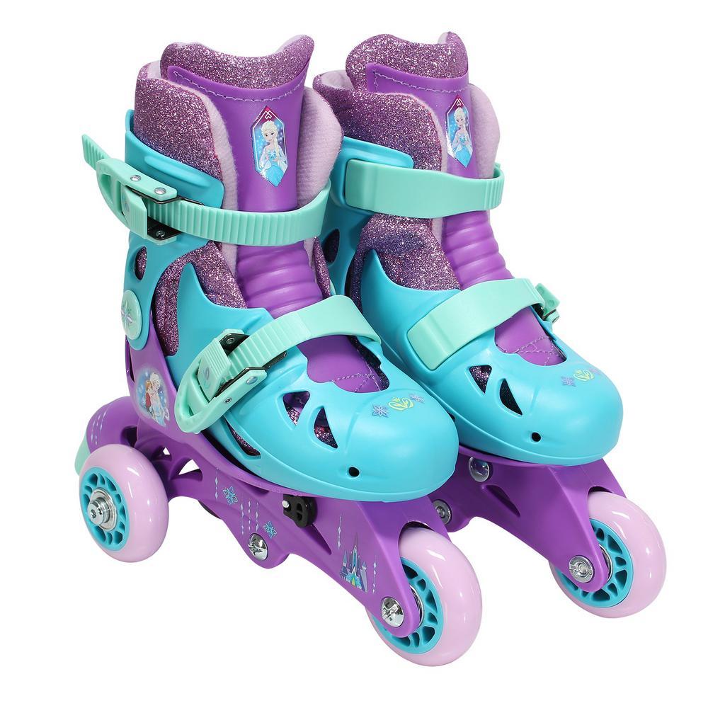 Frozen Glitter Junior Size 6-9 Convertible Roller Skates