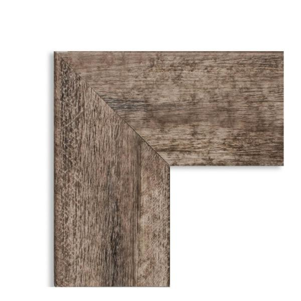 Amanti Art Large Rectangle Distressed Brown Beveled Glass Modern Mirror 53 38 In H X 19 38 In W Dsw4093205 The Home Depot