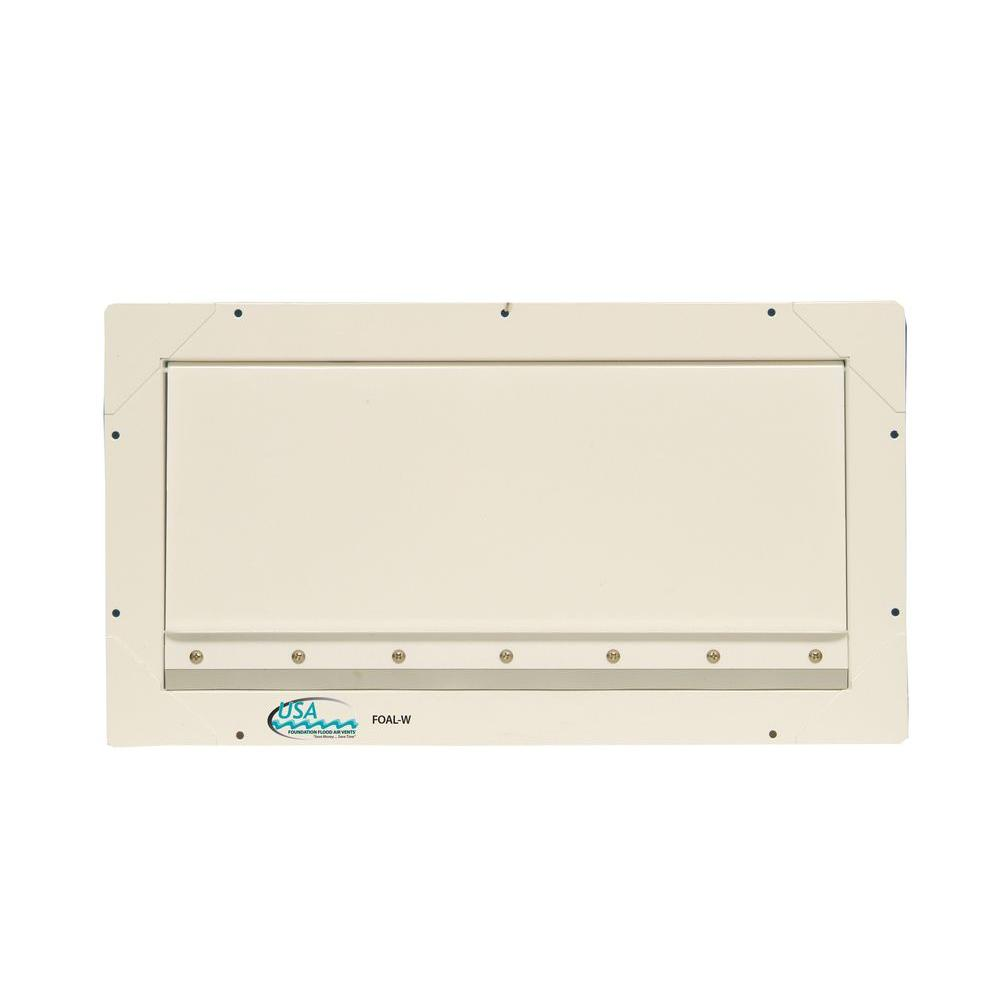 8 in. x 16 in. Standard Sized Aluminum Powder Coated Foundation