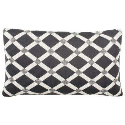 Diamond Knit Printed Patterns Pillow