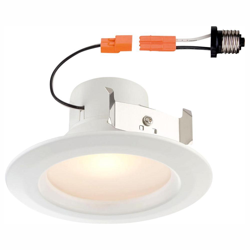 EnviroLite Standard Retrofit 4 in. White Recessed Trim Bright LED Ceiling Light with 92 CRI, 4000K (2-Pack)