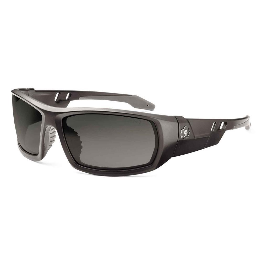 Skullerz Odin Matte Black Polarized Safety Glasses, Tinted Lens - ANSI Certified