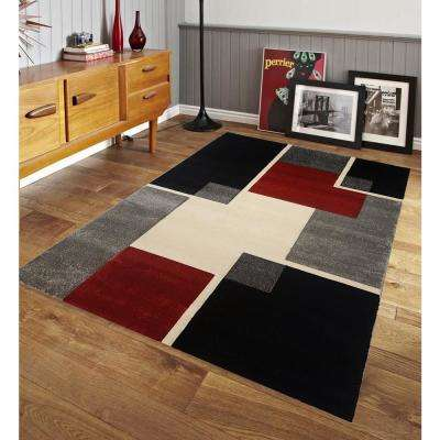Renzo Collection Multi Color 8 ft. x 10 ft. Area Rug