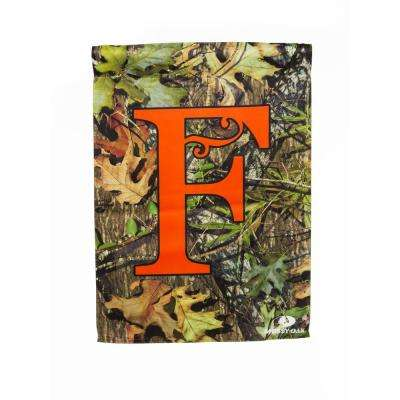 Mossy Oak 2-1/2 ft. x 3-2/3 ft. Monogrammed F 2-Sided Sublimated House Flag