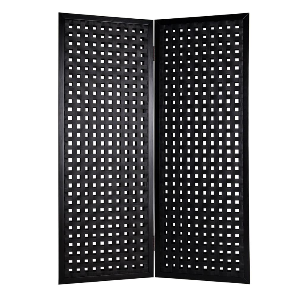 Black 2 Panel Room Divider