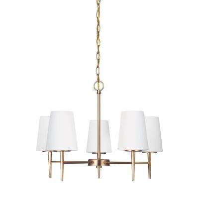 Driscoll 5-Light Satin Bronze Chandelier with LED Bulbs