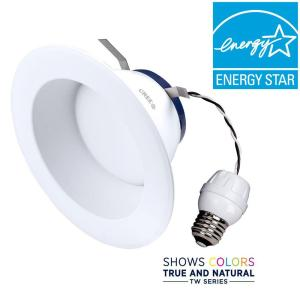 Cree Tw Series 65w Equivalent Soft White 2700k 6 In Dimmable Led Retrofit Recessed Downlight Drdl6 06227009 12de26 1c100 The Home Depot