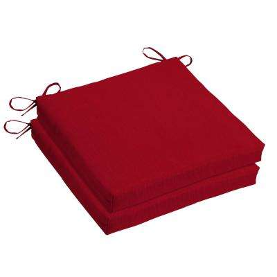 Woodbury 18 x 18 Outdoor Chair Cushion in Sunbrella Spectrum Cherry (2-Pack)