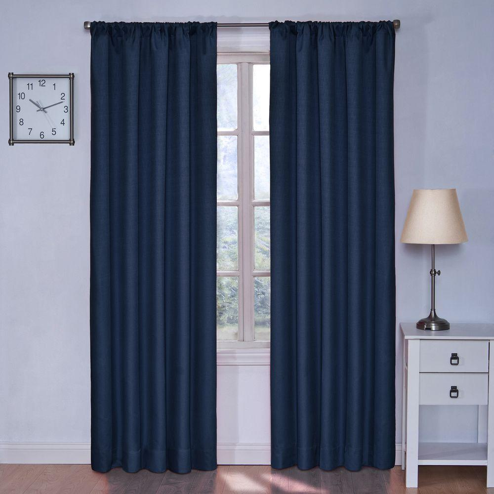 Eclipse Blackout Kendall Denim Curtain Panel 84 In Length