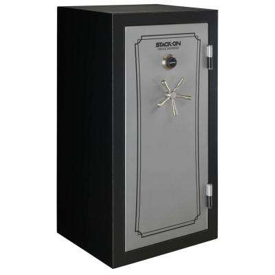40-Gun Fire/Waterproof Combination Lock Safe, Matte Black/Silver