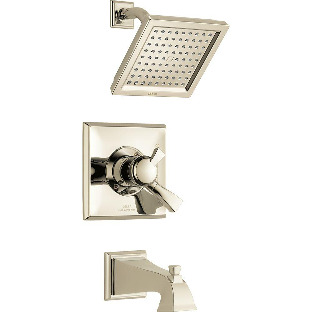 Delta Dryden Single-Handle Tub and Shower Faucet Trim Kit in ...