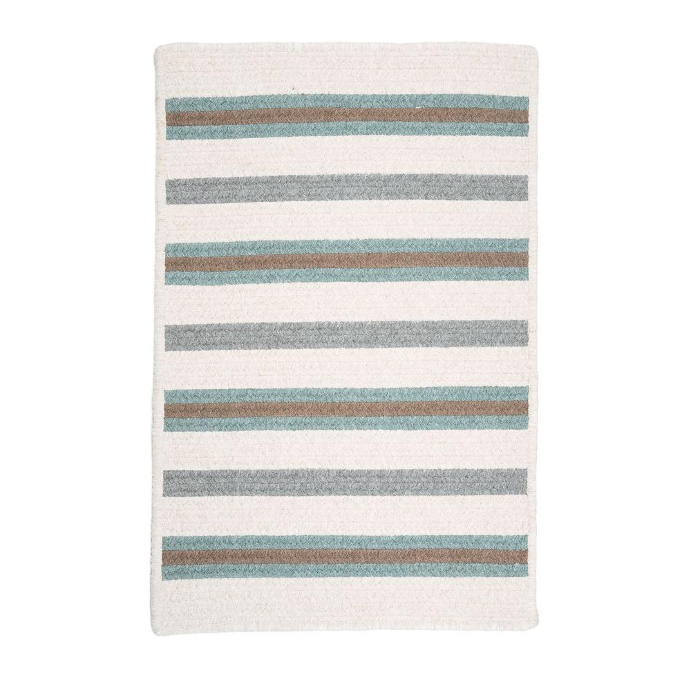 Home Decorators Collection Promenade II 2 ft. x 3 ft. Soft Teal Braided Area Rug