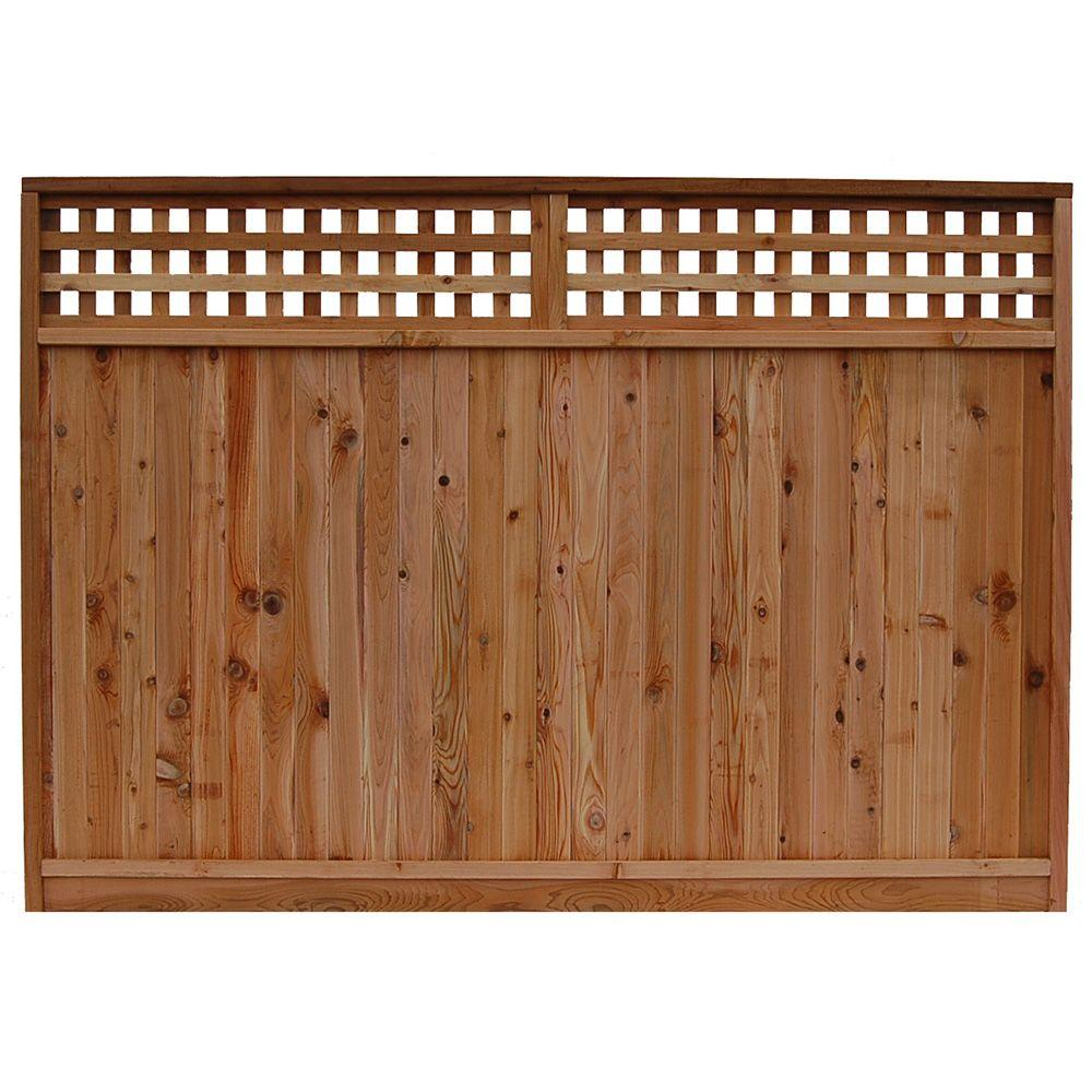 Signature development 6 ft h x 8 ft w western red cedar for Lattice prevulcanizzato