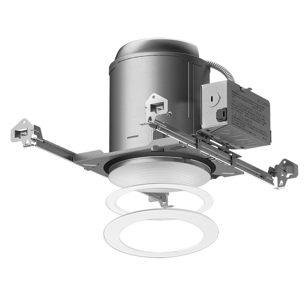 New construction recessed lighting lighting the home depot e26 series 6 in white recessed lighting housing for new construction aloadofball Gallery
