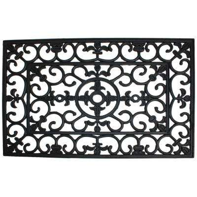 Wrought Iron 24 in. x 36 in. Natural Rubber Door Mat