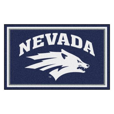 NCAA - University of Nevada Navy Blue 4 ft. x 6 ft. Area Rug
