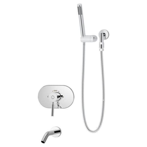 Sereno 1-Handle Tub/Hand Shower Trim Kit in Chrome (Valve Not Included)