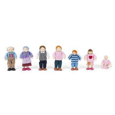 Caucasian Doll Family Play Set