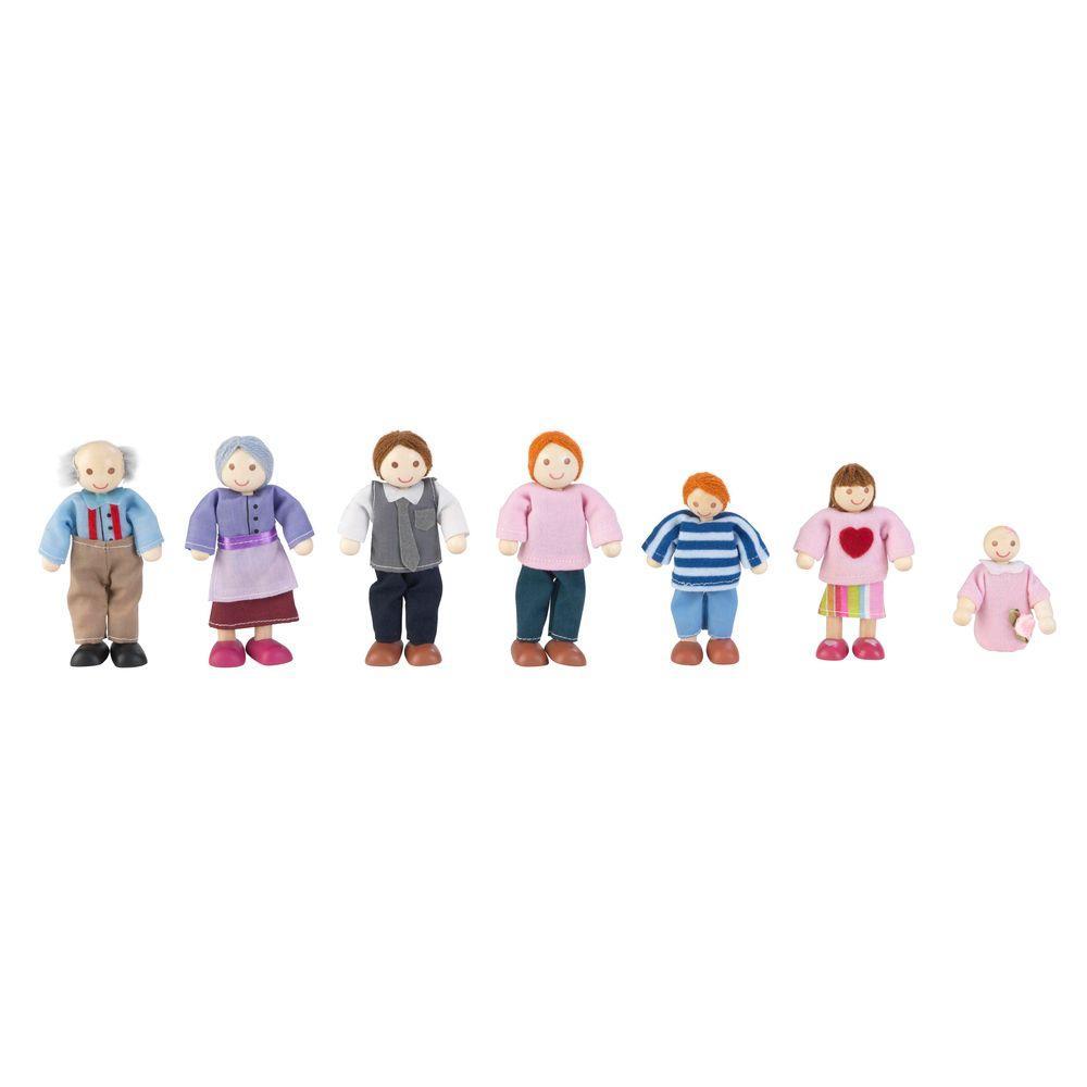 Caucasian Doll Family Play Set