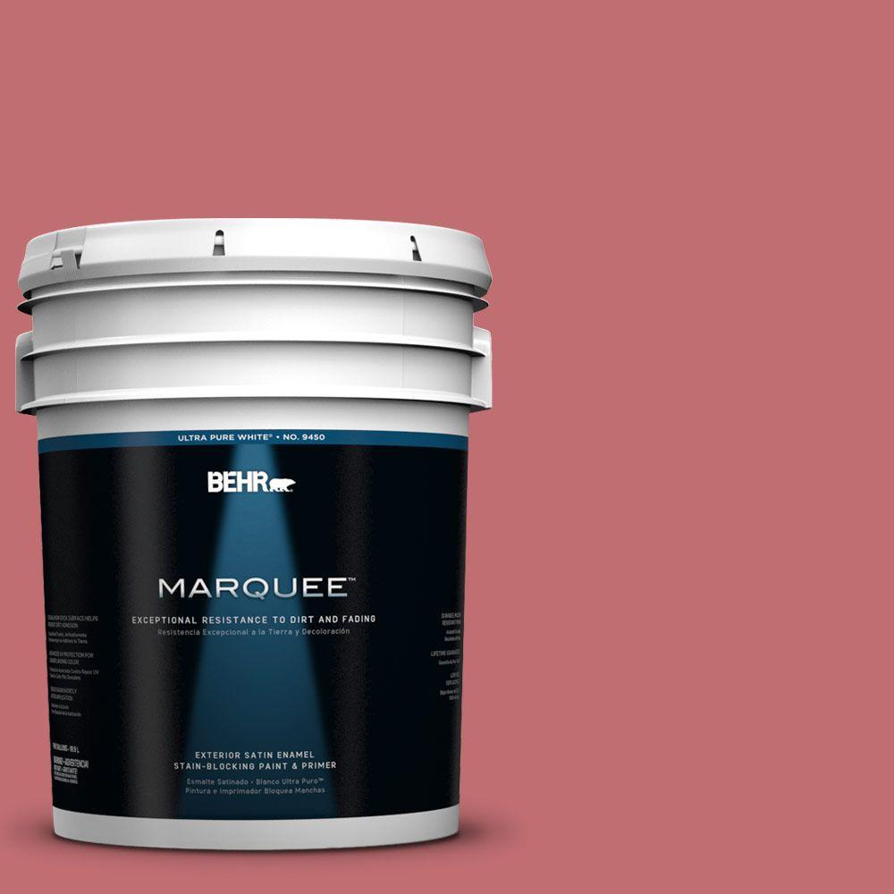 BEHR MARQUEE 5-gal. #HDC-SP14-8 Art House Pink Satin Enamel Exterior Paint