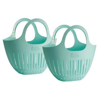 Blue Mini Garden Colander Harvest Basket 2-Pack