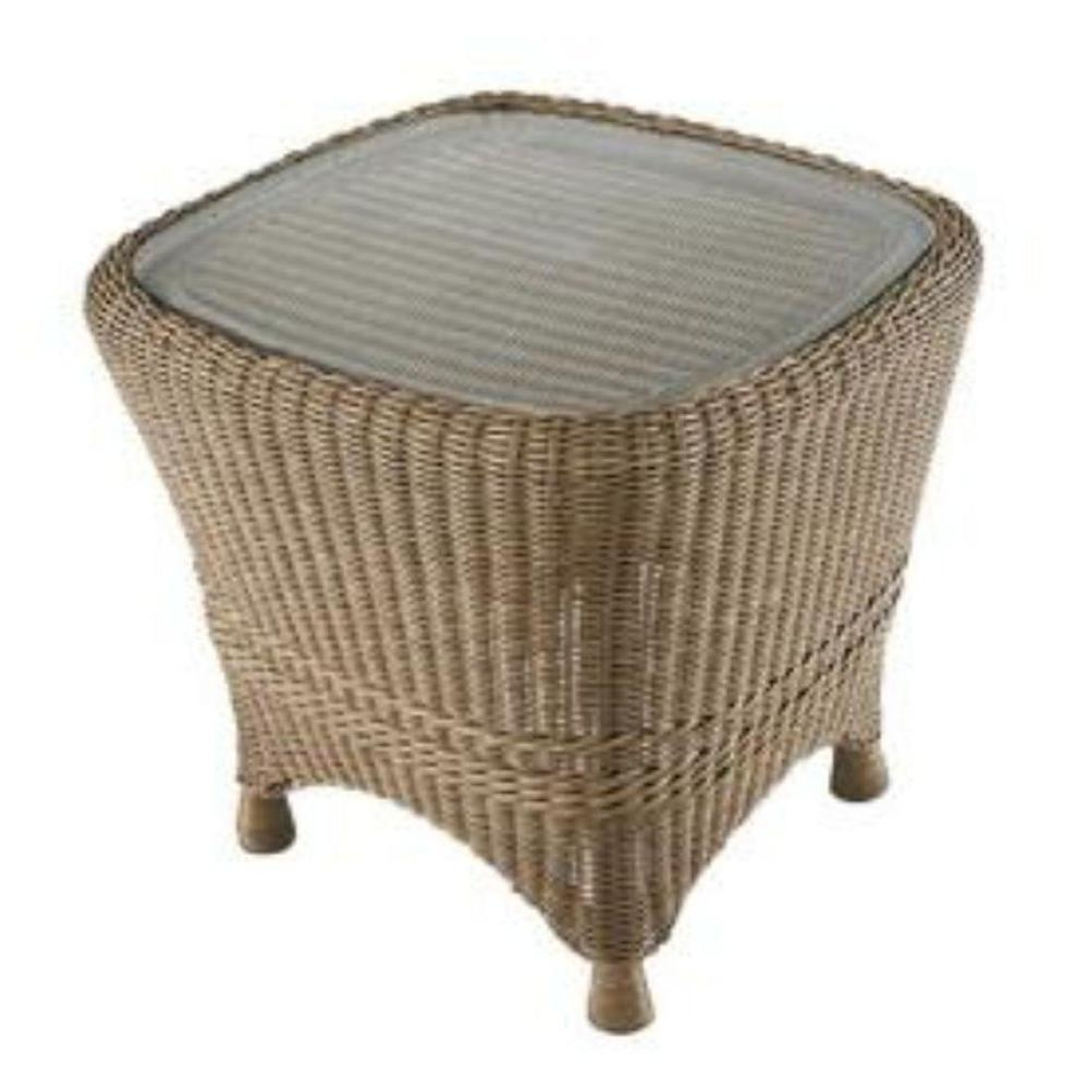 Martha Stewart Living Lily Bay Wicker Patio Side Table-DISCONTINUED